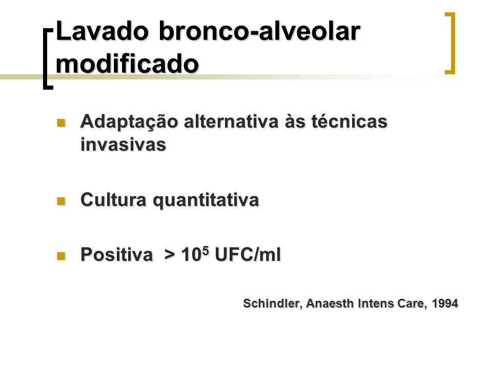 Lavado bronco-alveolar modificado
