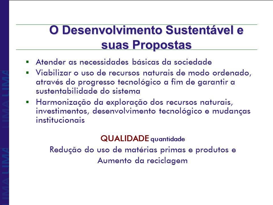 O Desenvolvimento Sustentável e suas Propostas