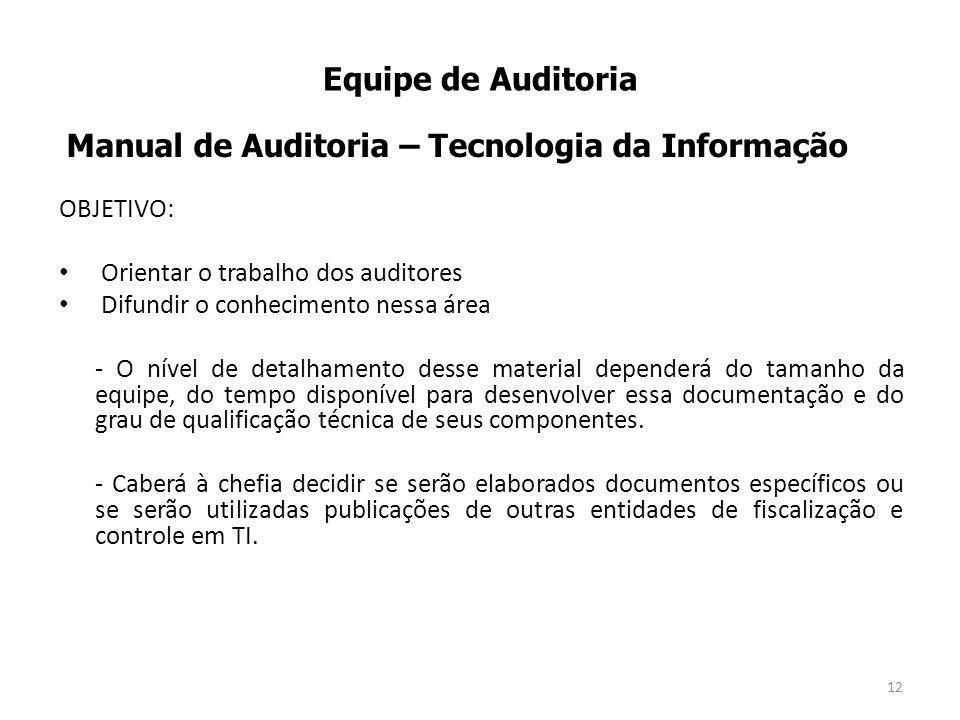 Manual de Auditoria – Tecnologia da Informação