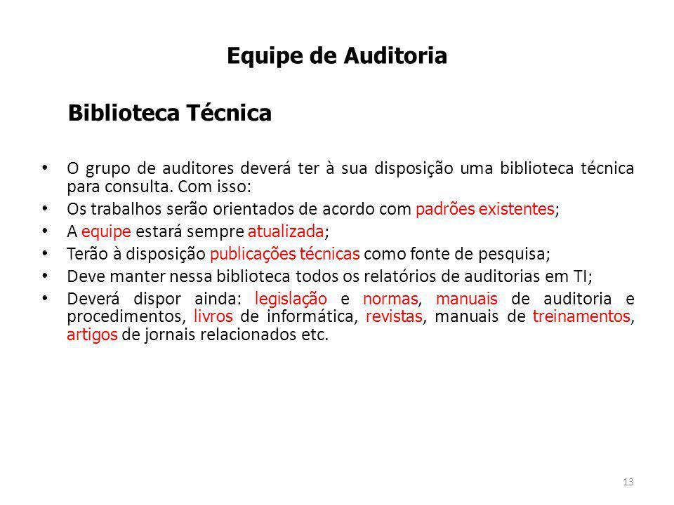 Equipe de Auditoria Biblioteca Técnica