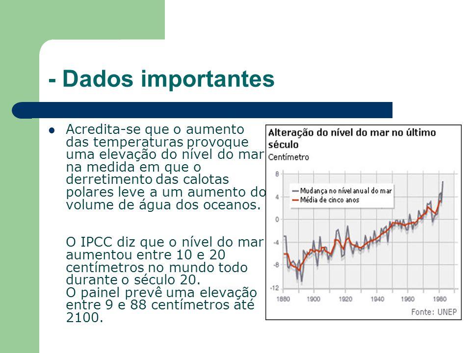 - Dados importantes