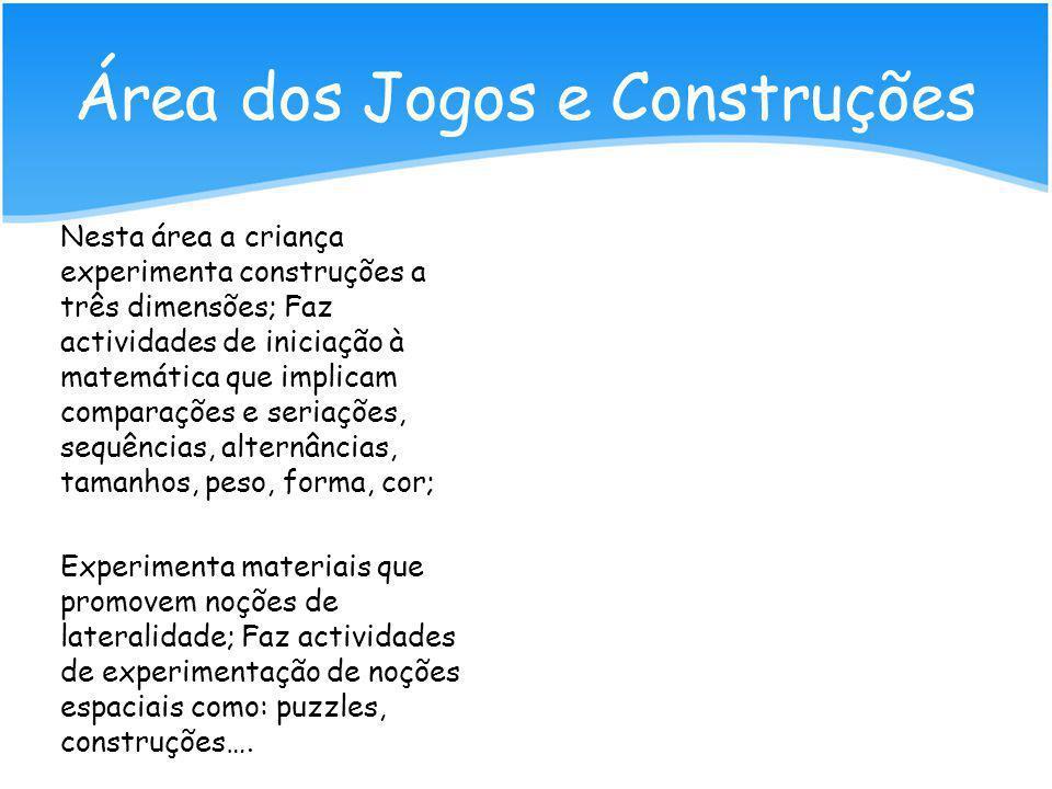 Área dos Jogos e Construções