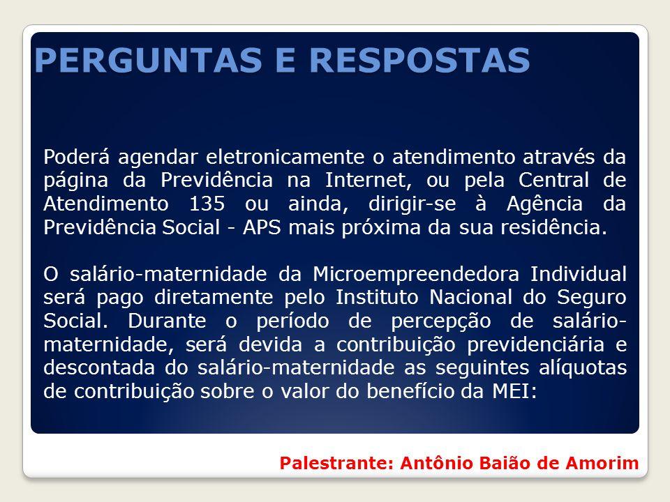 PERGUNTAS E RESPOSTAS