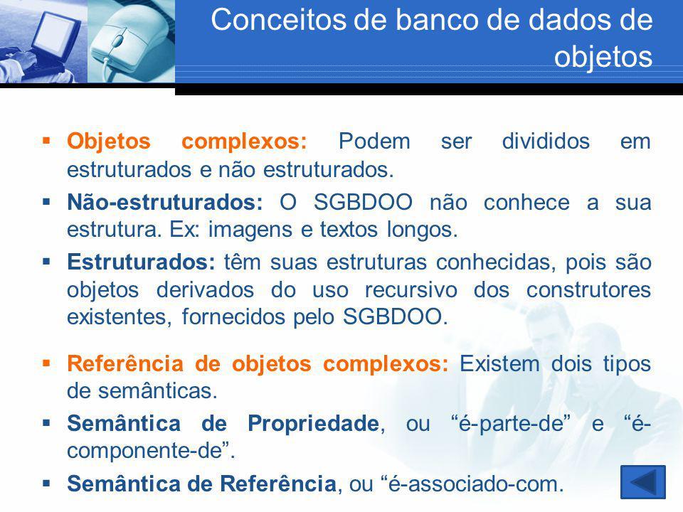 Conceitos de banco de dados de objetos