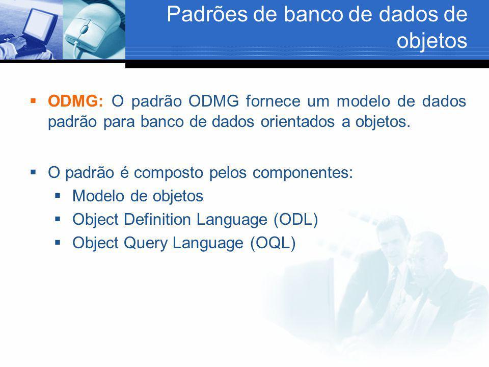 Padrões de banco de dados de objetos