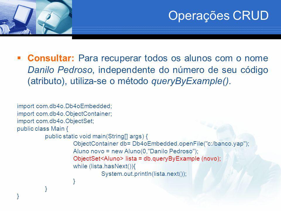 Operações CRUD