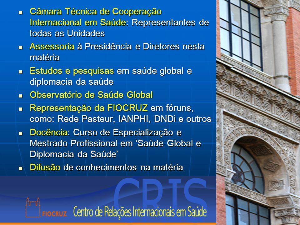Câmara Técnica de Cooperação Internacional em Saúde: Representantes de todas as Unidades