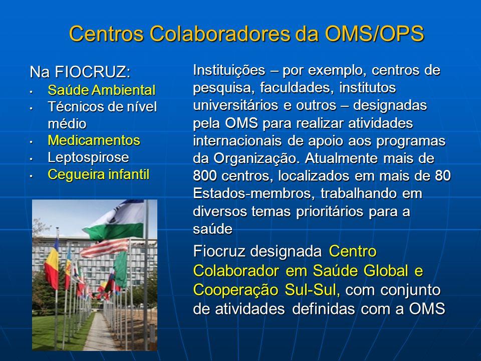 Centros Colaboradores da OMS/OPS
