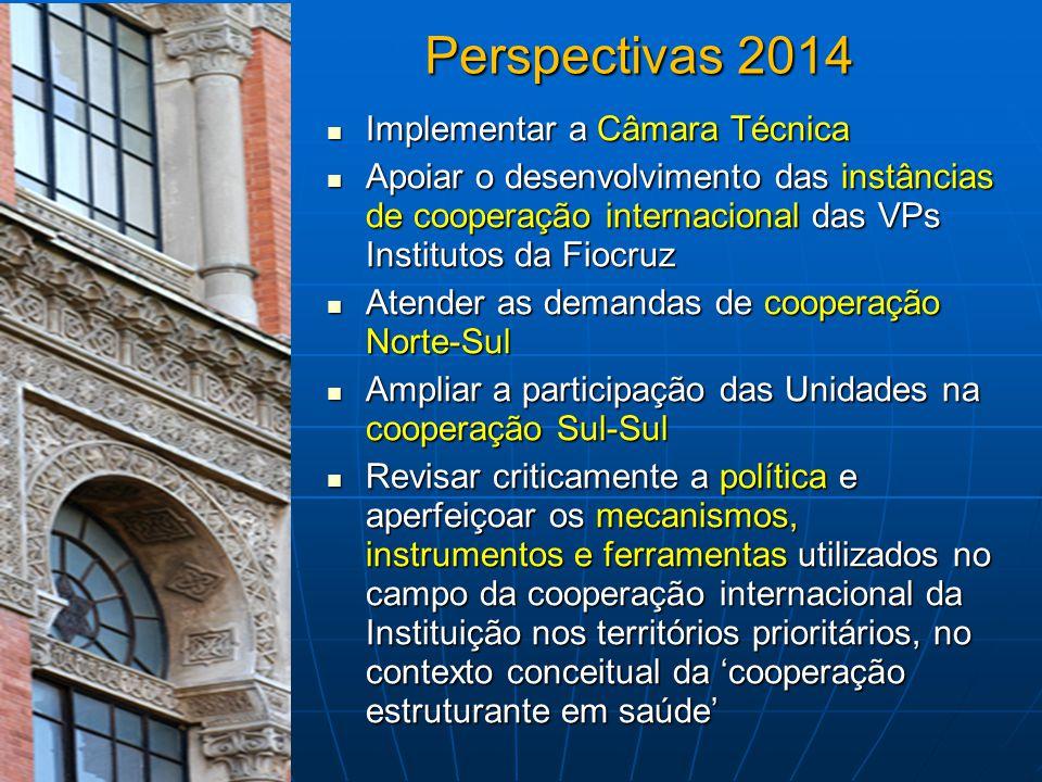 Perspectivas 2014 Implementar a Câmara Técnica