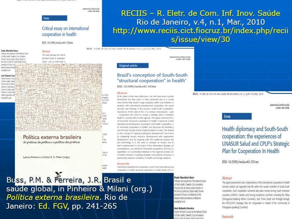 RECIIS – R. Eletr. de Com. Inf. Inov. Saúde