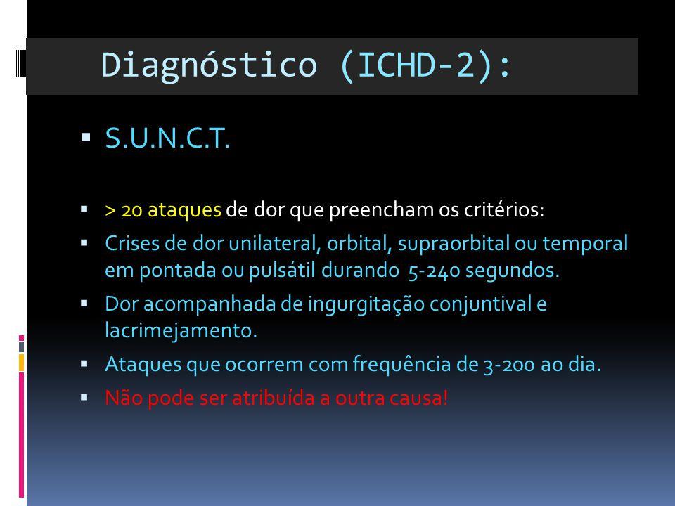 Diagnóstico (ICHD-2): S.U.N.C.T.