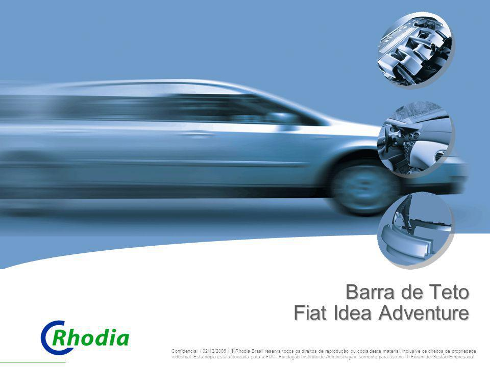 Barra de Teto Fiat Idea Adventure