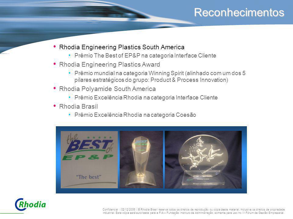 Reconhecimentos Rhodia Engineering Plastics South America