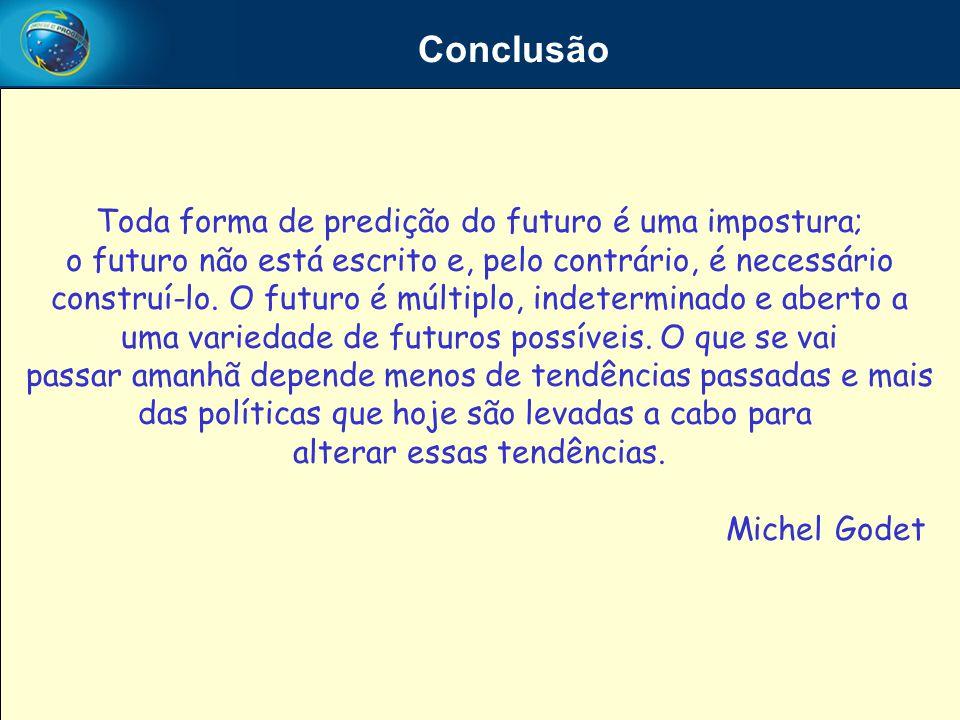 Conclusão Toda forma de predição do futuro é uma impostura;