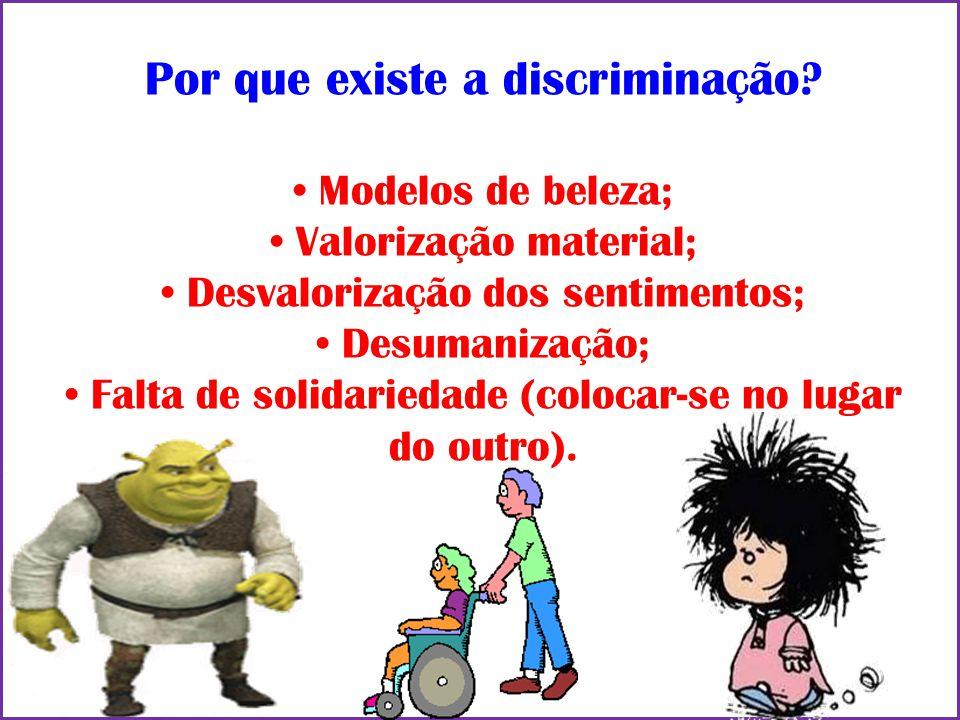 Por que existe a discriminação