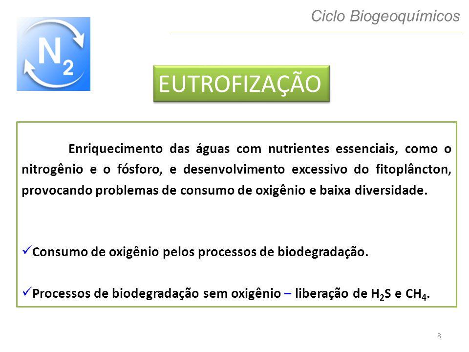 EUTROFIZAÇÃO Ciclo Biogeoquímicos