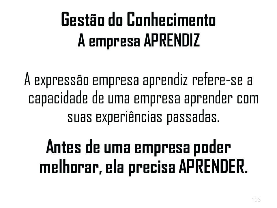 Gestão do Conhecimento A empresa APRENDIZ