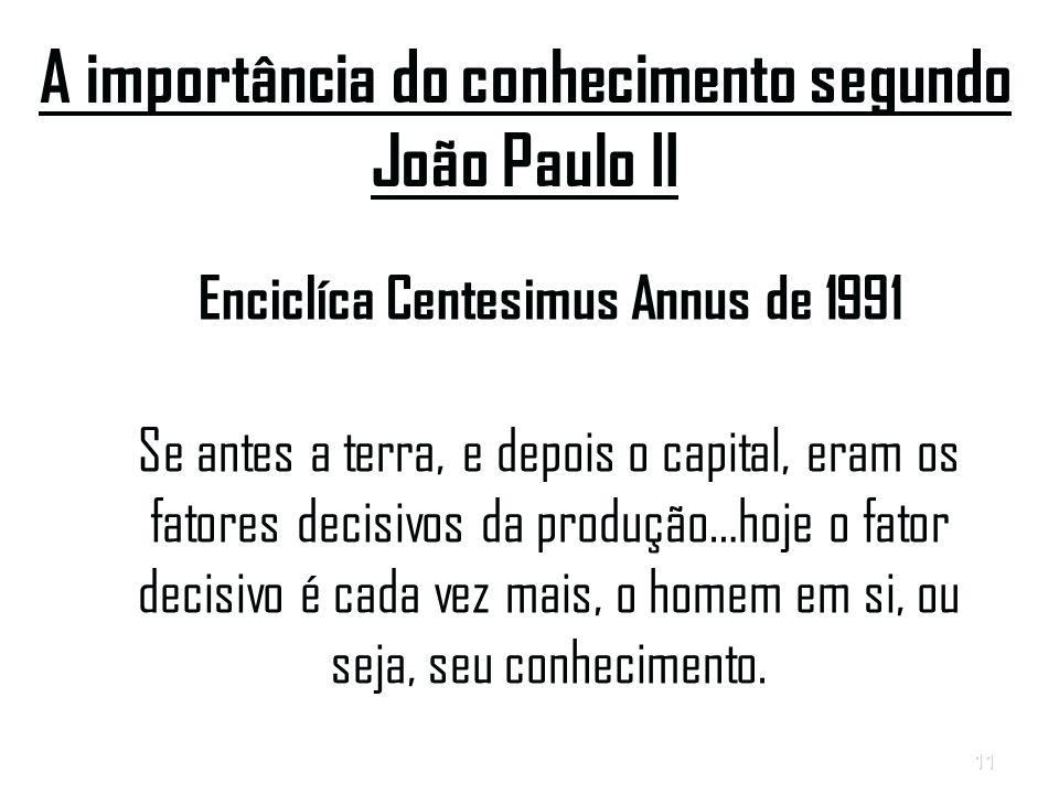 A importância do conhecimento segundo João Paulo II