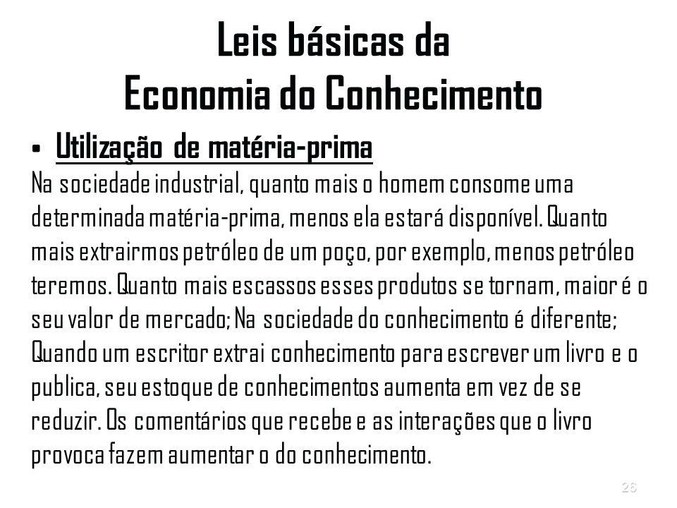 Leis básicas da Economia do Conhecimento