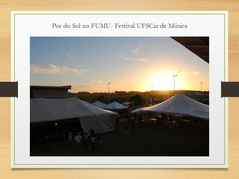 Por do Sol no FUMU- Festival UFSCar de Música