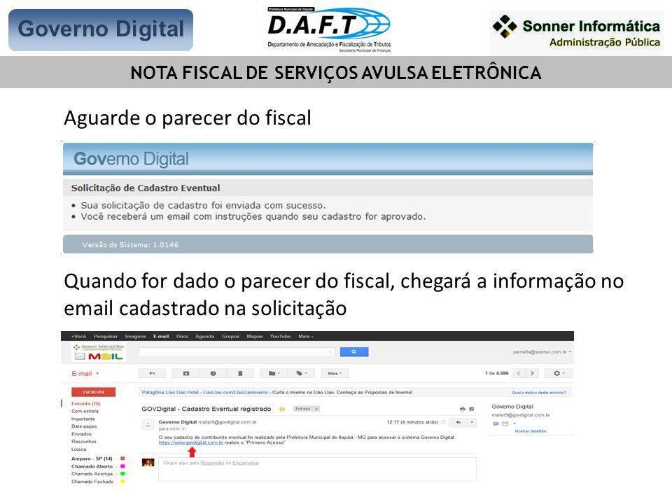 NOTA FISCAL DE SERVIÇOS AVULSA ELETRÔNICA