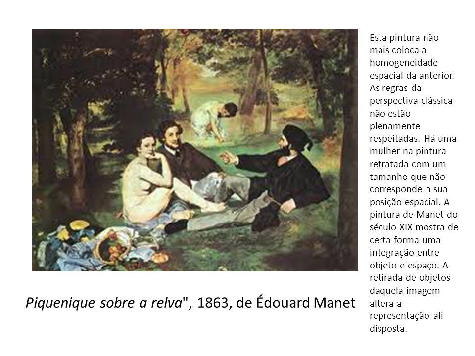 Piquenique sobre a relva , 1863, de Édouard Manet