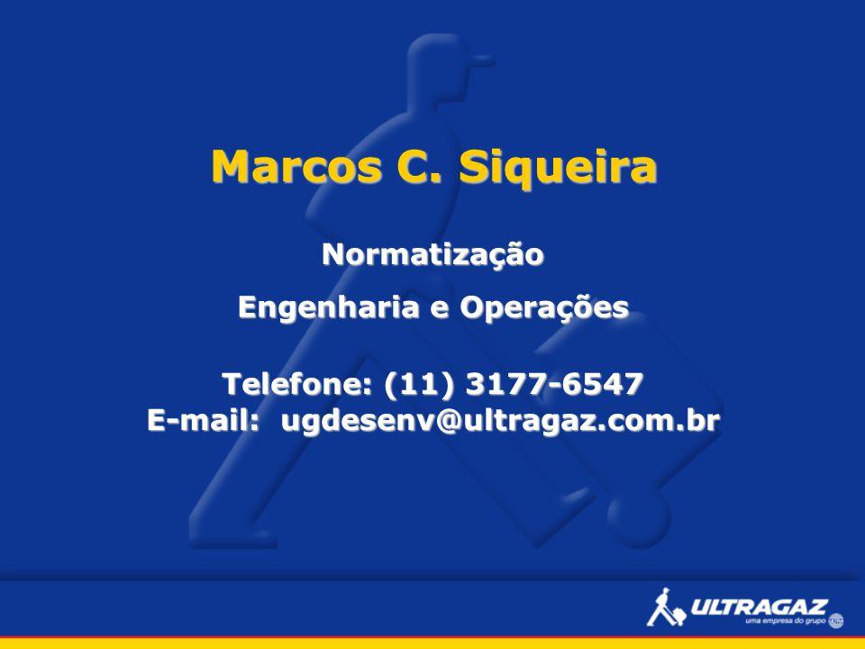 Engenharia e Operações E-mail: ugdesenv@ultragaz.com.br