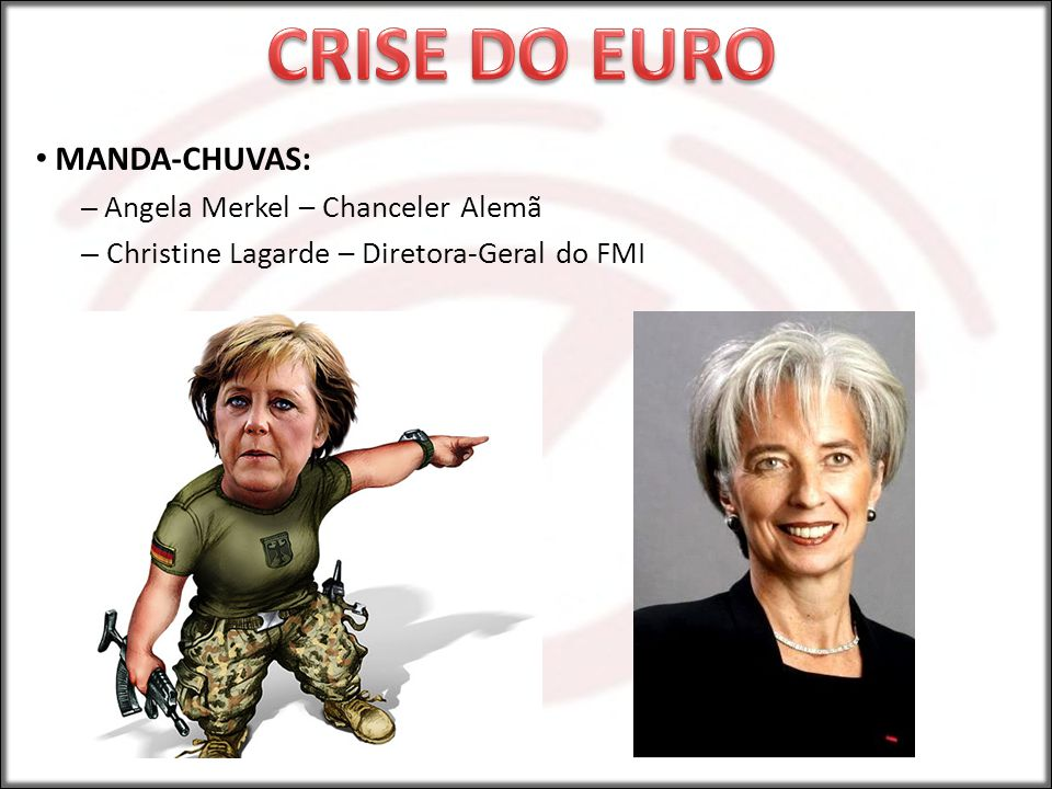 CRISE DO EURO MANDA-CHUVAS: Christine Lagarde – Diretora-Geral do FMI