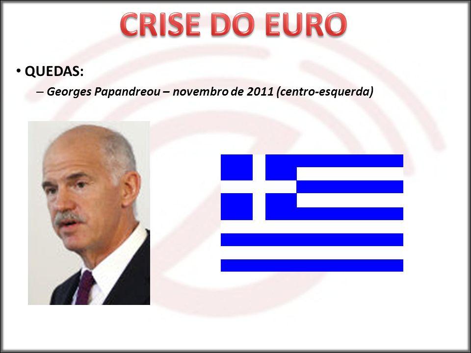 CRISE DO EURO QUEDAS: Georges Papandreou – novembro de 2011 (centro-esquerda)
