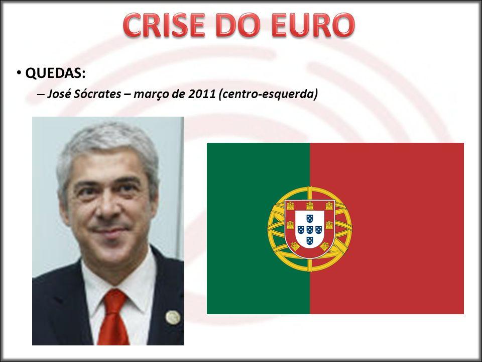 CRISE DO EURO QUEDAS: José Sócrates – março de 2011 (centro-esquerda)