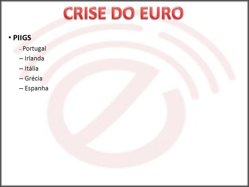 CRISE DO EURO PIIGS Portugal Irlanda Itália Grécia Espanha