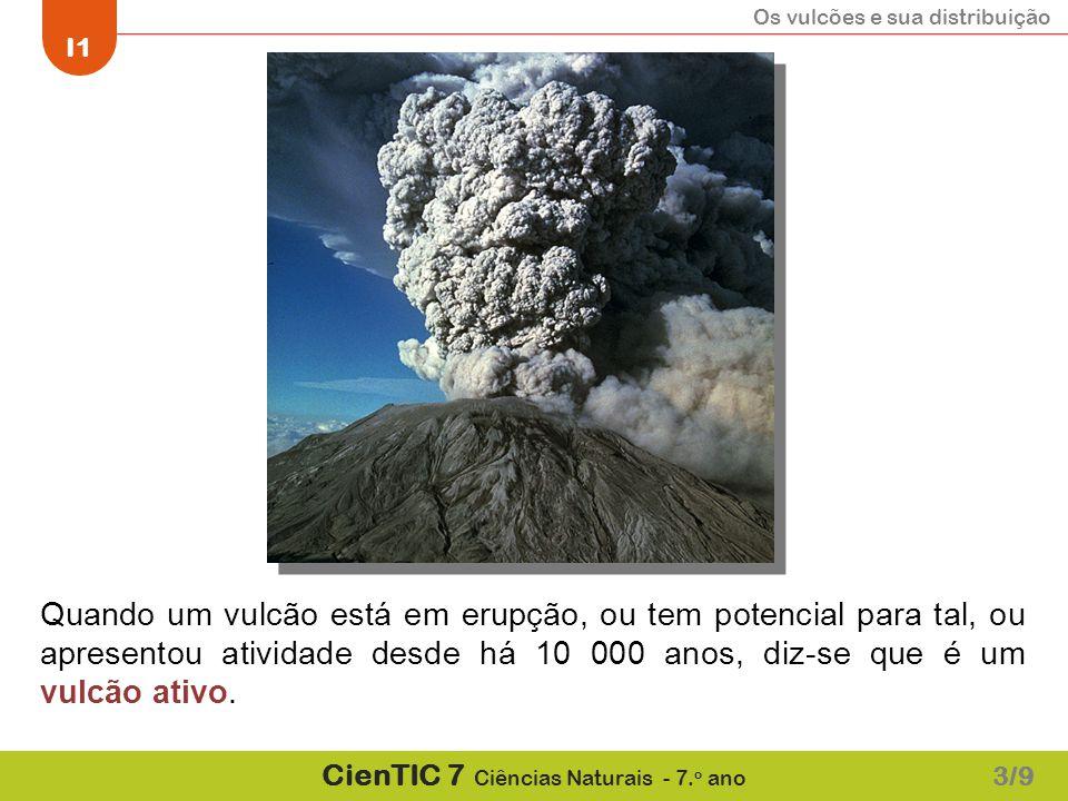 Quando um vulcão está em erupção, ou tem potencial para tal, ou apresentou atividade desde há 10 000 anos, diz-se que é um vulcão ativo.