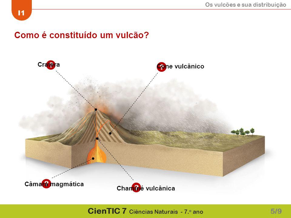 Como é constituído um vulcão