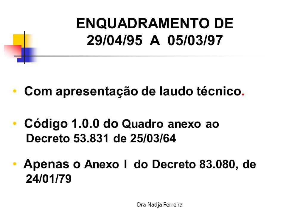 ENQUADRAMENTO DE 29/04/95 A 05/03/97