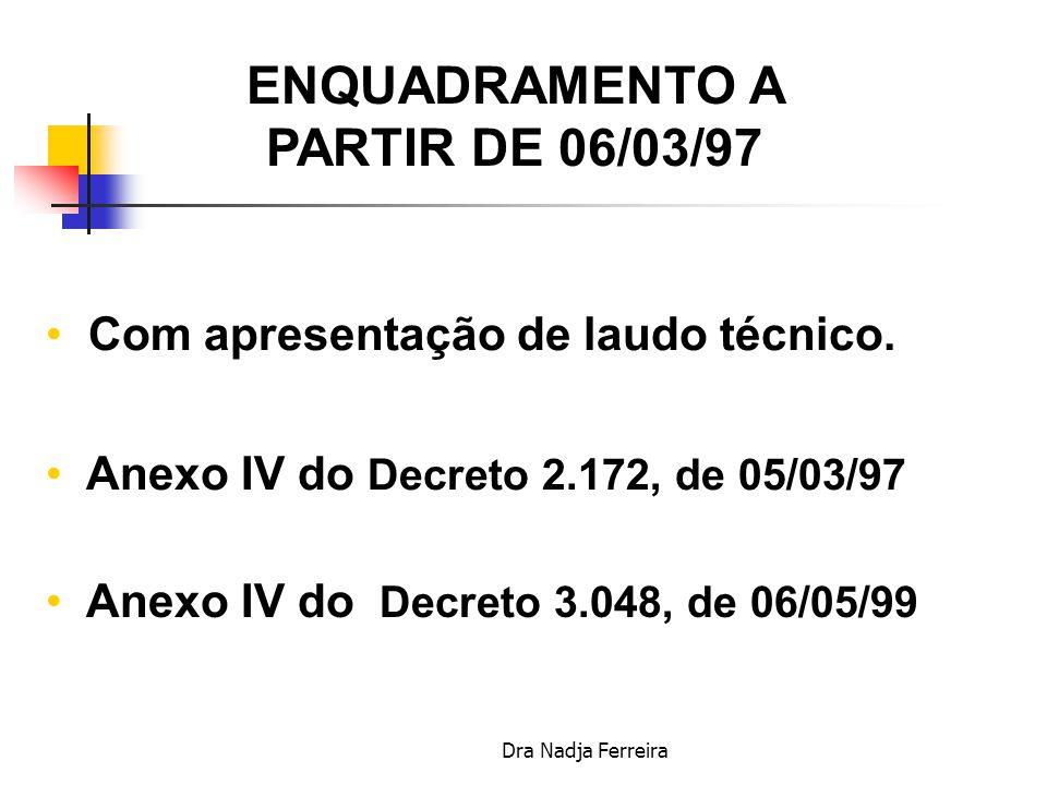 ENQUADRAMENTO A PARTIR DE 06/03/97