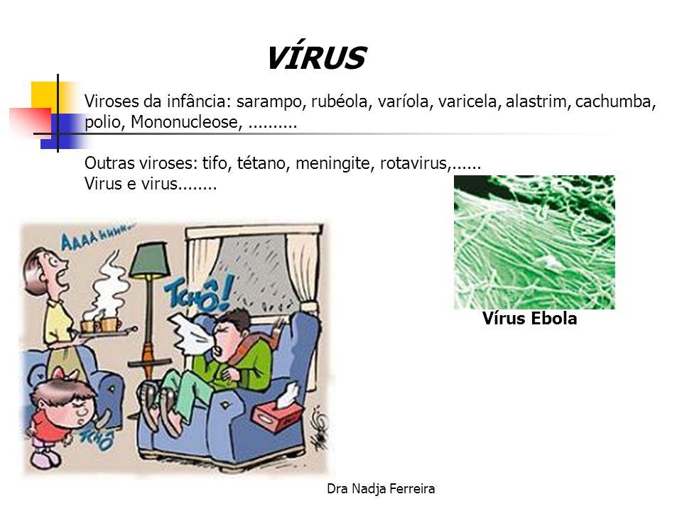 VÍRUS Viroses da infância: sarampo, rubéola, varíola, varicela, alastrim, cachumba, polio, Mononucleose, ..........