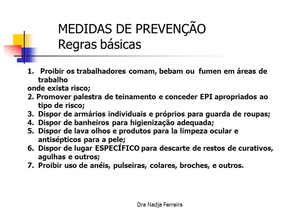 MEDIDAS DE PREVENÇÃO Regras básicas