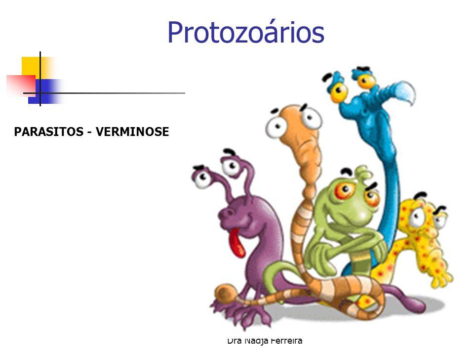 Protozoários PARASITOS - VERMINOSE Dra Nadja Ferreira