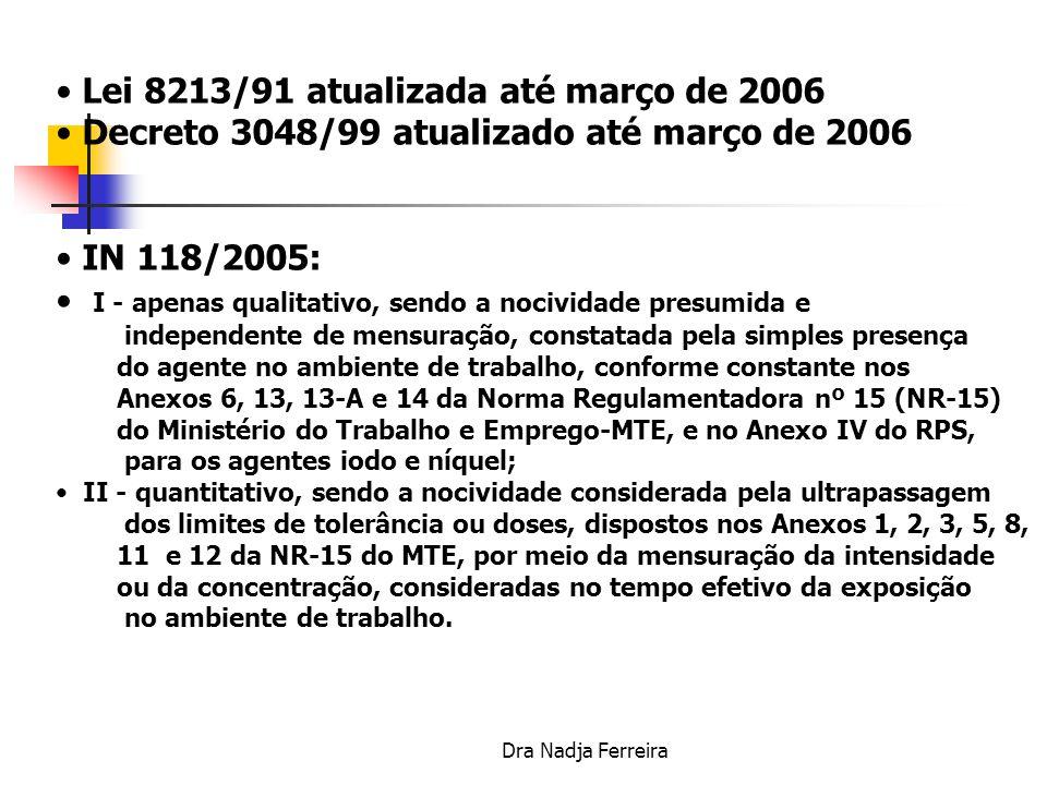 Lei 8213/91 atualizada até março de 2006