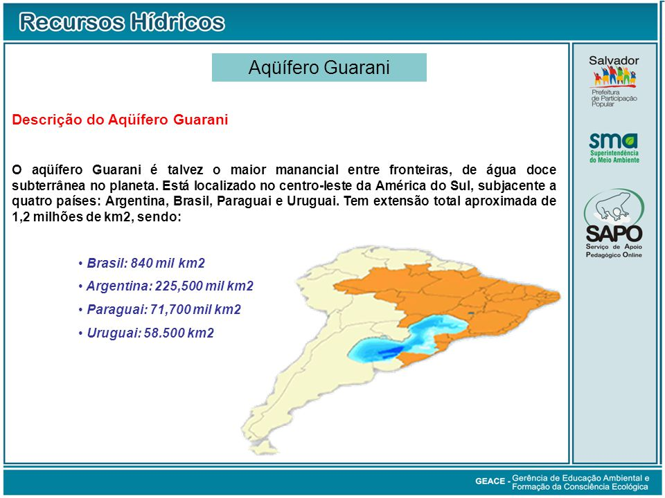Aqüífero Guarani Aqüífero Guarani Descrição do Aqüífero Guarani