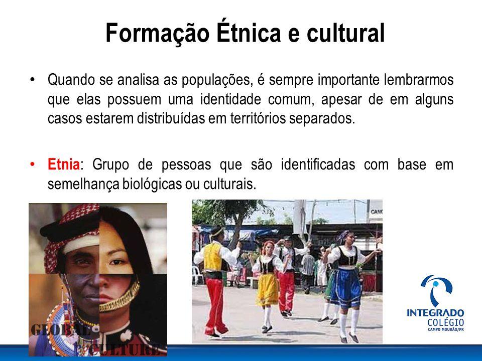 Formação Étnica e cultural