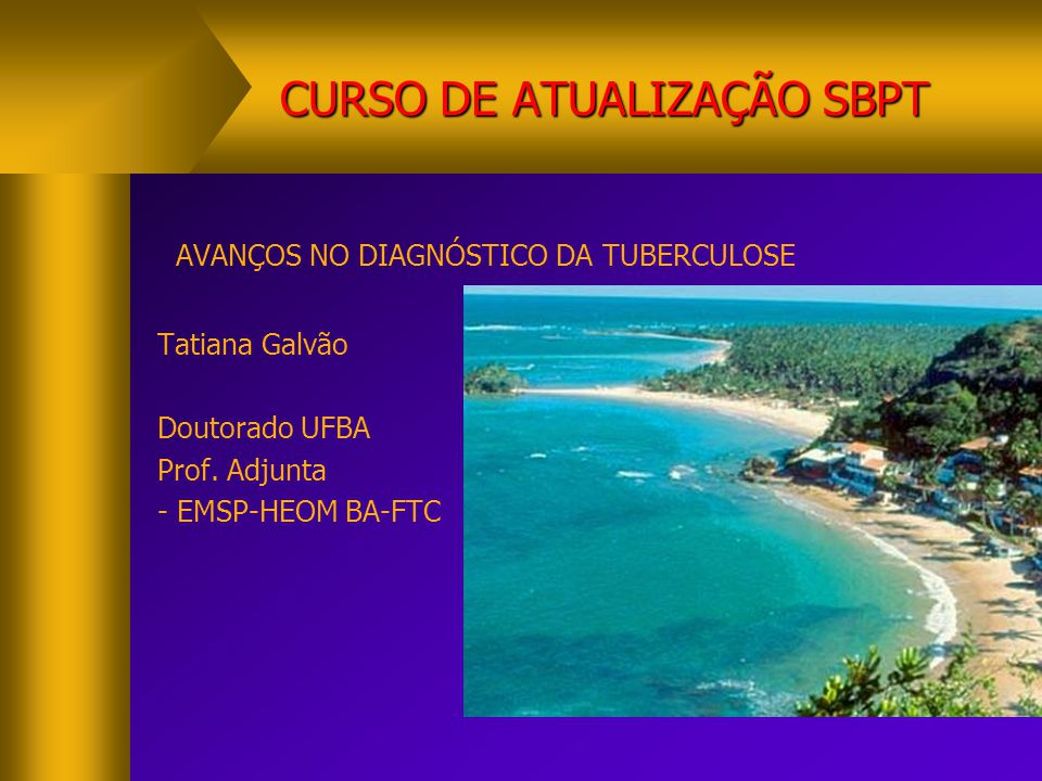 CURSO DE ATUALIZAÇÃO SBPT