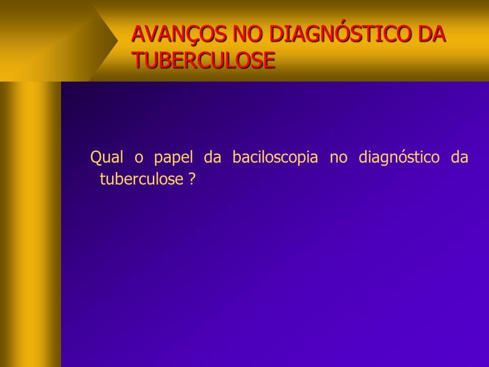 AVANÇOS NO DIAGNÓSTICO DA TUBERCULOSE