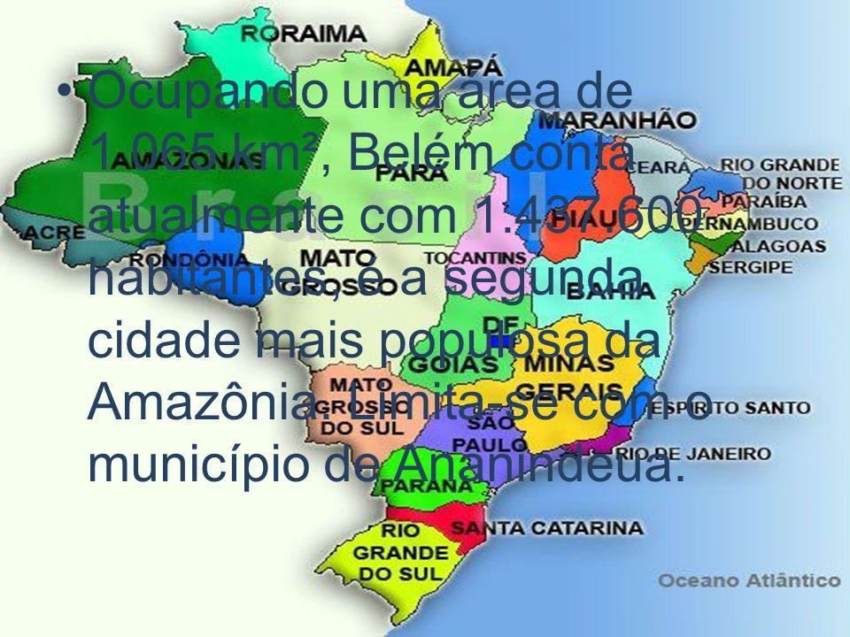 Ocupando uma área de 1 065 km², Belém conta atualmente com 1. 437