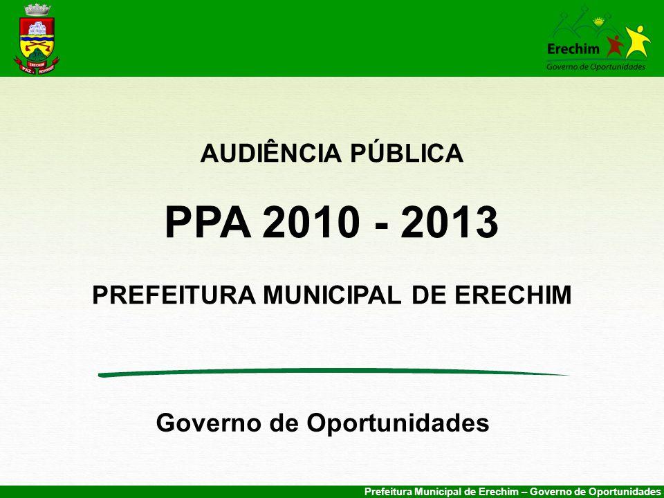 PREFEITURA MUNICIPAL DE ERECHIM Governo de Oportunidades