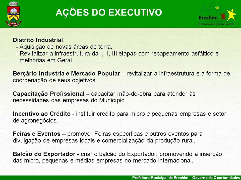 AÇÕES DO EXECUTIVO Distrito Industrial: