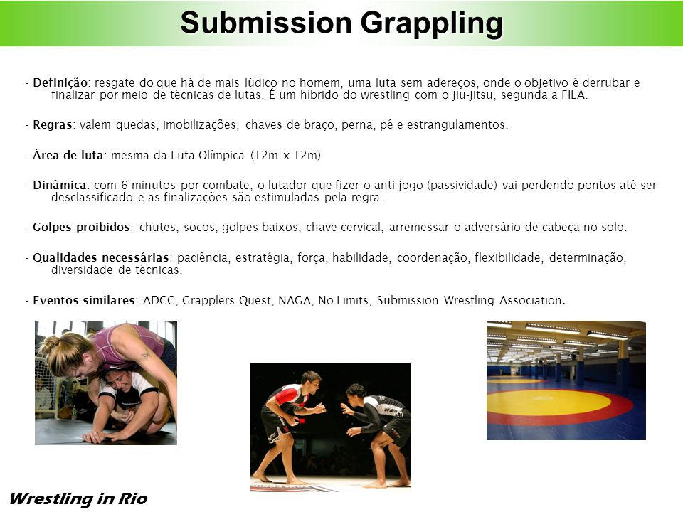 Submission Grappling Wrestling in Rio