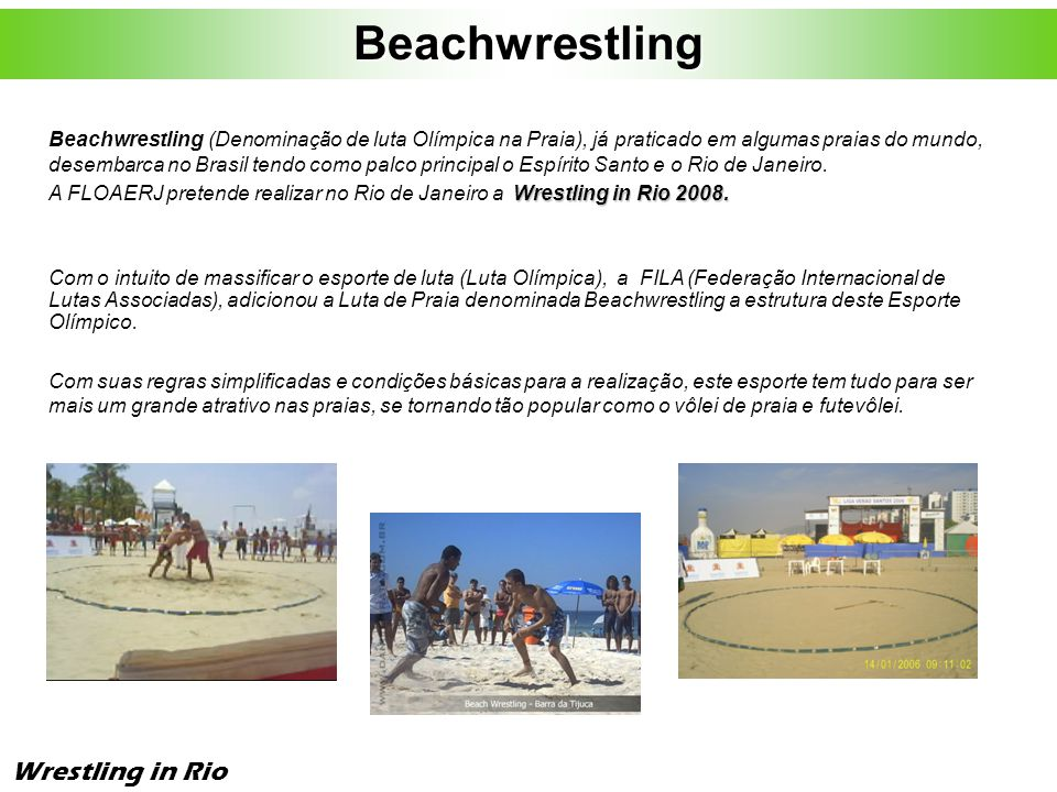 Beachwrestling Wrestling in Rio
