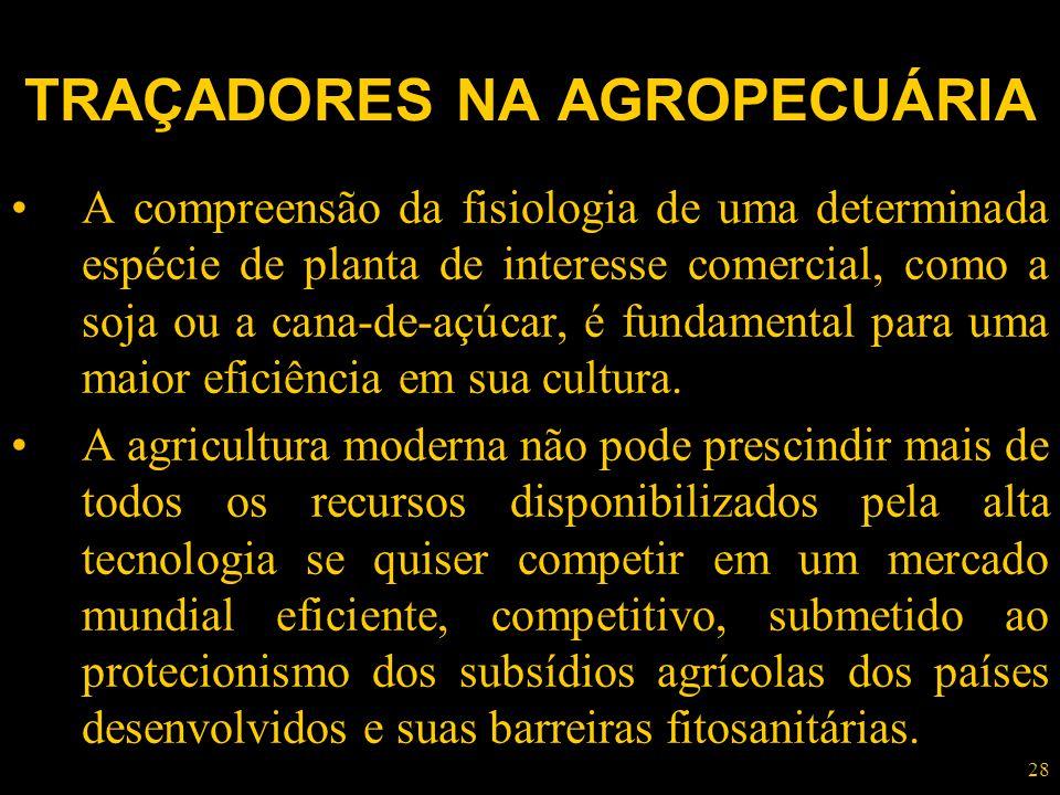 TRAÇADORES NA AGROPECUÁRIA