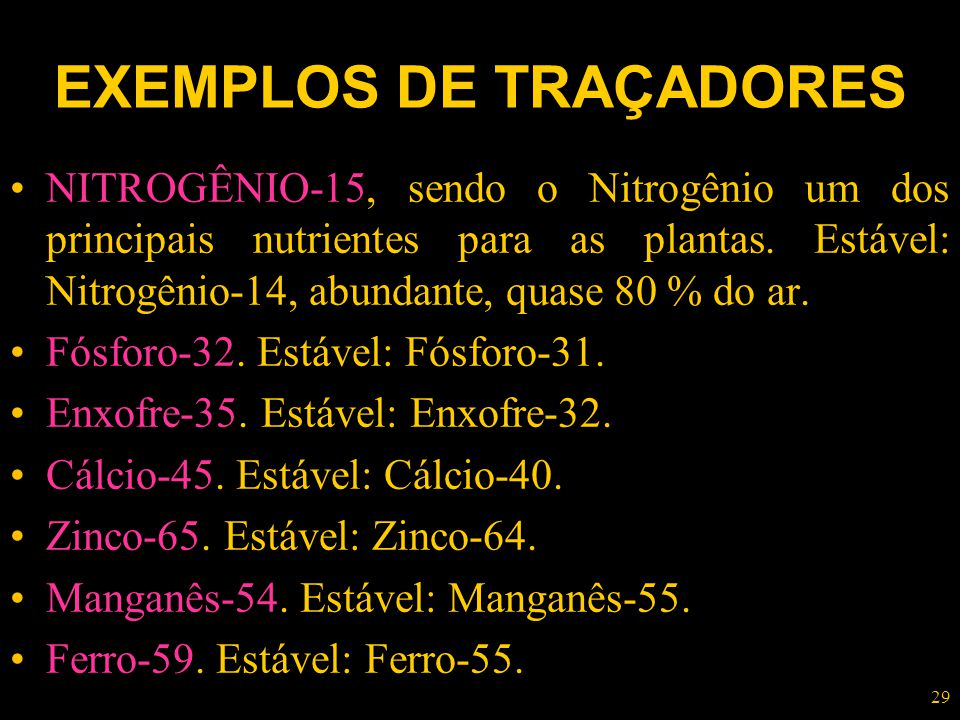 EXEMPLOS DE TRAÇADORES